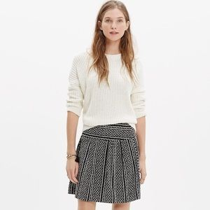 Madewell Silk Skyline Tidal Wave Mini Skirt